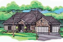 European Exterior - Front Elevation Plan #51-994