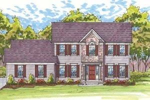 Architectural House Design - Traditional Exterior - Front Elevation Plan #435-22