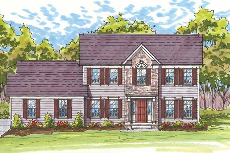 House Plan Design - Traditional Exterior - Front Elevation Plan #435-22