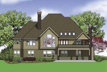 Dream House Plan - Craftsman Exterior - Rear Elevation Plan #48-864