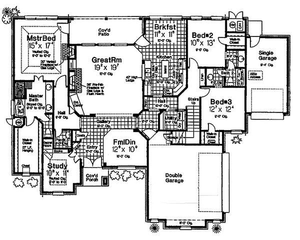 European Floor Plan - Main Floor Plan Plan #310-680
