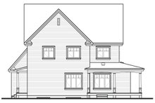 House Plan Design - Farmhouse Exterior - Rear Elevation Plan #23-587