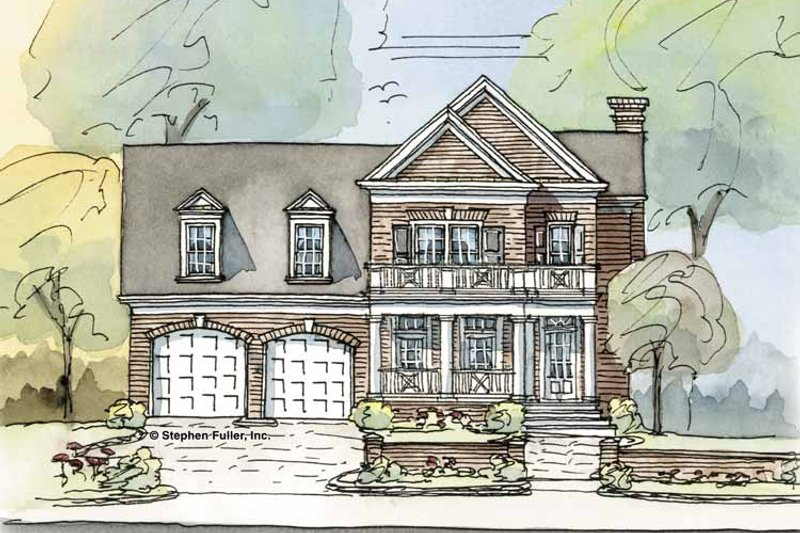 Colonial Exterior - Front Elevation Plan #429-296