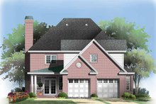 Colonial Exterior - Rear Elevation Plan #929-851
