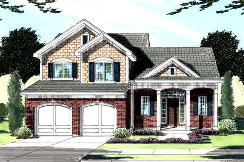 Traditional Exterior - Front Elevation Plan #46-425 - Houseplans.com