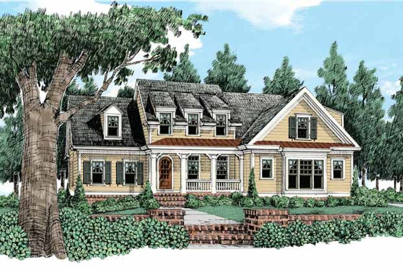 Bungalow Exterior - Front Elevation Plan #927-419