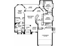 Mediterranean Floor Plan - Main Floor Plan Plan #1058-35