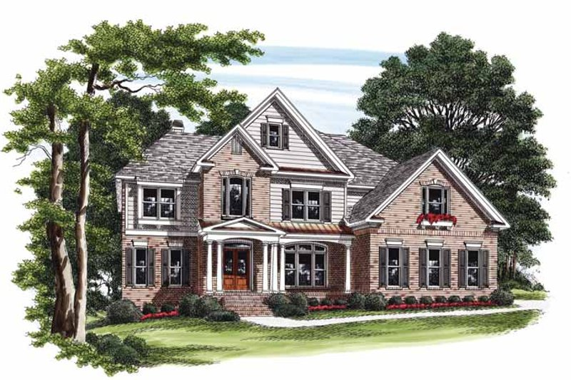 Country Exterior - Front Elevation Plan #927-826