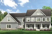 Colonial Style House Plan - 4 Beds 4 Baths 2952 Sq/Ft Plan #1010-204 Exterior - Front Elevation