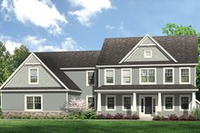 Colonial Exterior - Front Elevation Plan #1010-204