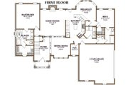 Southern Style House Plan - 4 Beds 3 Baths 2622 Sq/Ft Plan #63-106 Floor Plan - Main Floor Plan