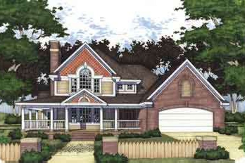 Country Exterior - Front Elevation Plan #120-119
