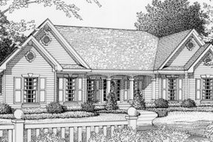 Traditional Exterior - Front Elevation Plan #112-120