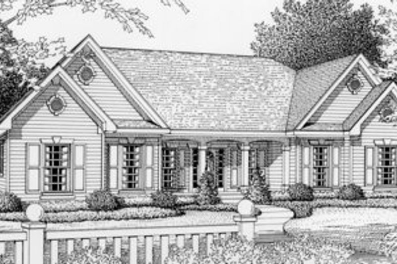 Traditional Style House Plan - 3 Beds 2 Baths 1809 Sq/Ft Plan #112-120