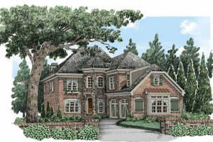 European Exterior - Front Elevation Plan #927-491