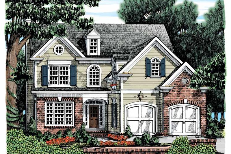 Colonial Exterior - Front Elevation Plan #927-860