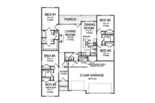Country Floor Plan - Main Floor Plan Plan #513-2167