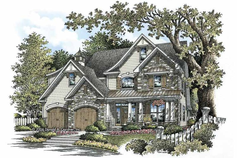 Craftsman Exterior - Front Elevation Plan #929-804