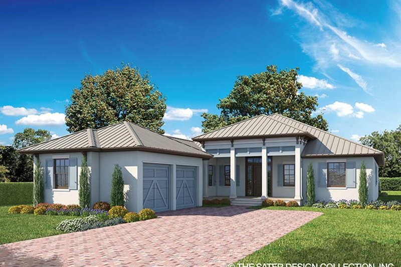 Architectural House Design - Ranch Exterior - Front Elevation Plan #930-465