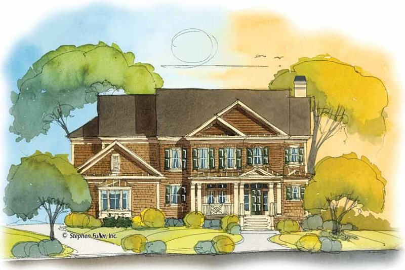 Colonial Exterior - Front Elevation Plan #429-397