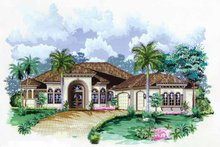 Mediterranean Exterior - Front Elevation Plan #1017-28