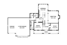 Colonial Floor Plan - Main Floor Plan Plan #1010-59