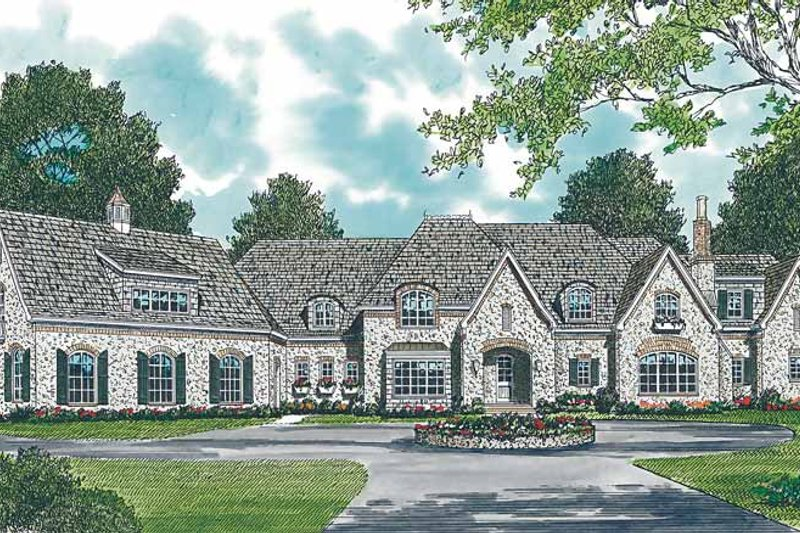 Country Exterior - Front Elevation Plan #453-245