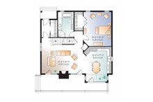 European Floor Plan - Main Floor Plan Plan #23-2513