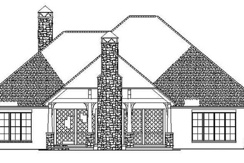 Ranch Exterior - Rear Elevation Plan #17-3367 - Houseplans.com
