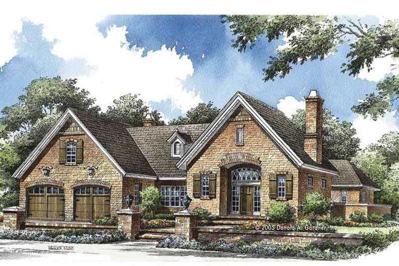 Country Exterior - Front Elevation Plan #929-773 - Houseplans.com