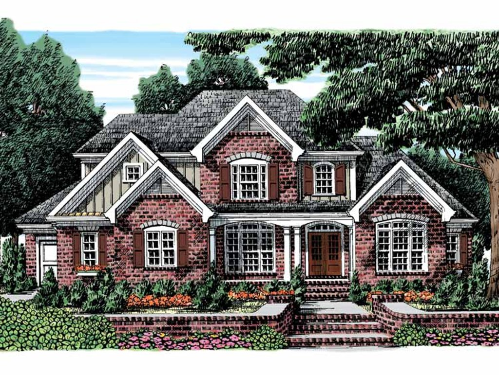 European style house plan 4 beds 3 5 baths 3189 sq ft for European farmhouse plans