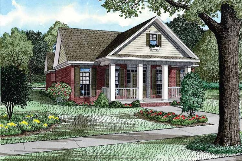 Dream House Plan - Country Exterior - Front Elevation Plan #17-2903