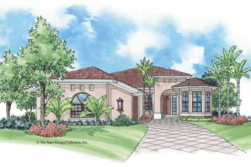 House Plan Design - Mediterranean Exterior - Front Elevation Plan #930-385