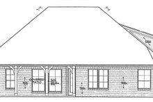 House Plan Design - Country Exterior - Rear Elevation Plan #310-1272