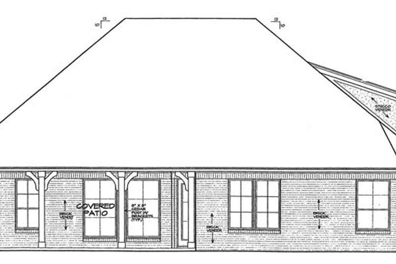 Country Exterior - Rear Elevation Plan #310-1272 - Houseplans.com