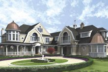 Dream House Plan - Craftsman Exterior - Front Elevation Plan #132-508
