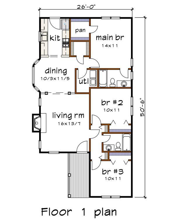 Dream House Plan - Cottage Floor Plan - Main Floor Plan #79-137