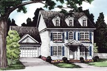 House Plan Design - Classical Exterior - Front Elevation Plan #927-614