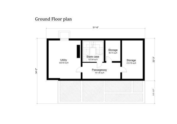 Log Floor Plan - Lower Floor Plan #549-6