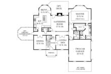 Classical Floor Plan - Main Floor Plan Plan #1053-62