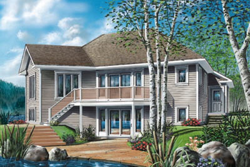 Traditional Exterior - Front Elevation Plan #23-163 - Houseplans.com