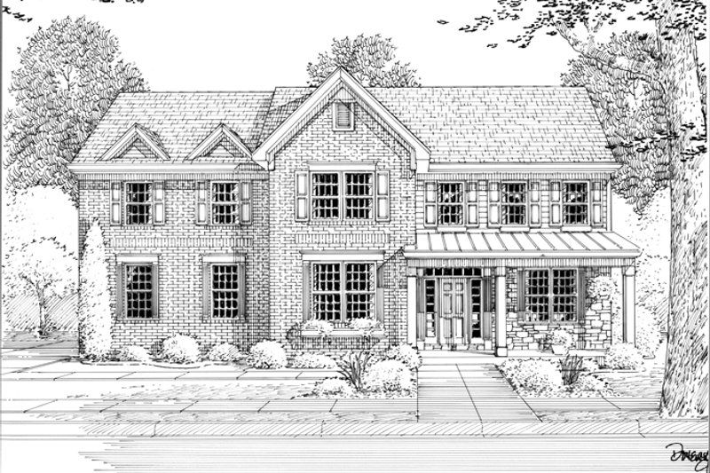 Traditional Exterior - Front Elevation Plan #46-837 - Houseplans.com