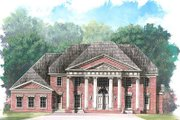 Classical Style House Plan - 4 Beds 3.5 Baths 5083 Sq/Ft Plan #119-246 Exterior - Front Elevation