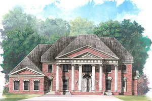 Classical Exterior - Front Elevation Plan #119-246