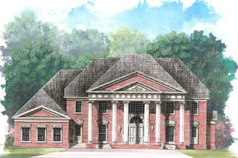 Classical Exterior - Front Elevation Plan #119-246 - Houseplans.com