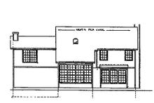 Dream House Plan - Tudor Exterior - Rear Elevation Plan #405-284