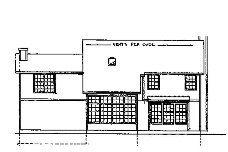 Tudor Exterior - Rear Elevation Plan #405-284 - Houseplans.com