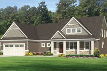 Craftsman Exterior - Front Elevation Plan #1010-161