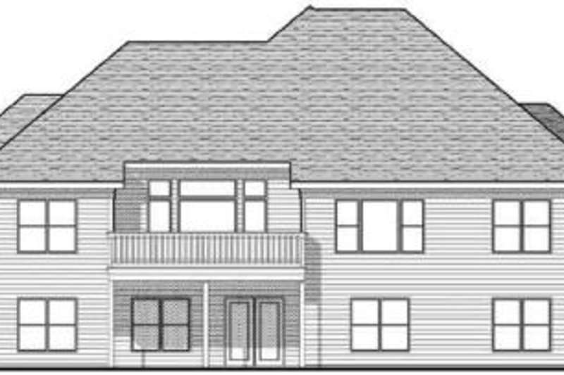 Traditional Exterior - Rear Elevation Plan #70-617 - Houseplans.com