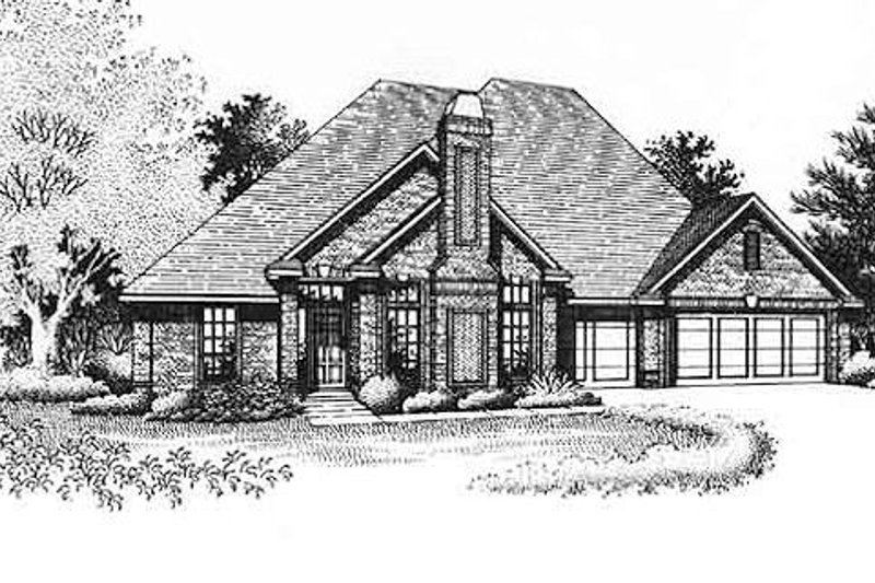 Traditional Style House Plan - 4 Beds 2.5 Baths 2091 Sq/Ft Plan #310-786 Exterior - Front Elevation